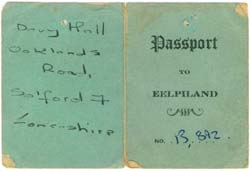 light green Eel Pie Passport from 1963 - outer