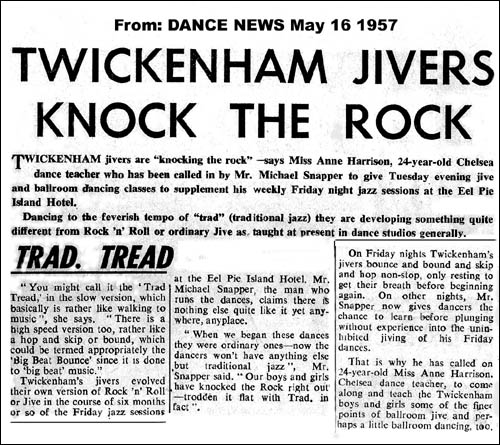 Dance News article, 16 May 1957