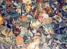 ceiling collage, Eel Pie Island Hotel, 1971