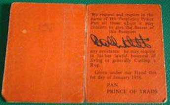 Eel Pie passport from 1958 - back